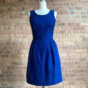 J.Crew Structured Dress in Cobalt Blue